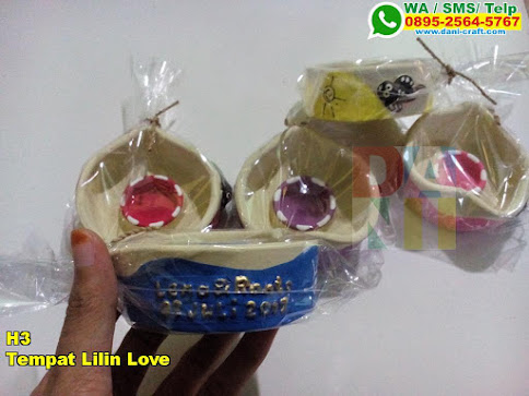 Grosir Tempat Lilin Love