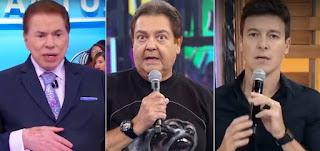 Silvio Santos, Fausto Silva e Rodrigo Faro estão entre os maiores faturamentos de SBT, Globo e Record