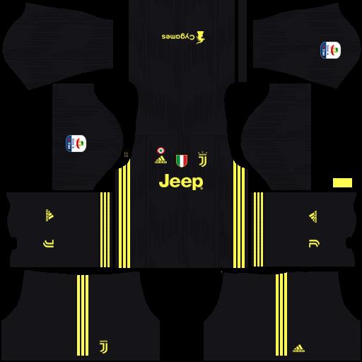 Kits/Uniformes para FTS 15 y Dream League Soccer: Kits/Uniformes Juventus - Serie A 2018/2019 ...