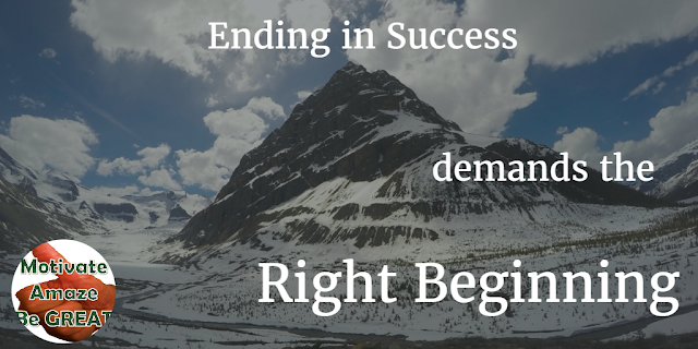 This article explains how ending in a successful outcome demands from you to get the right beginning. We give you guidelines to succeed an useful examples.