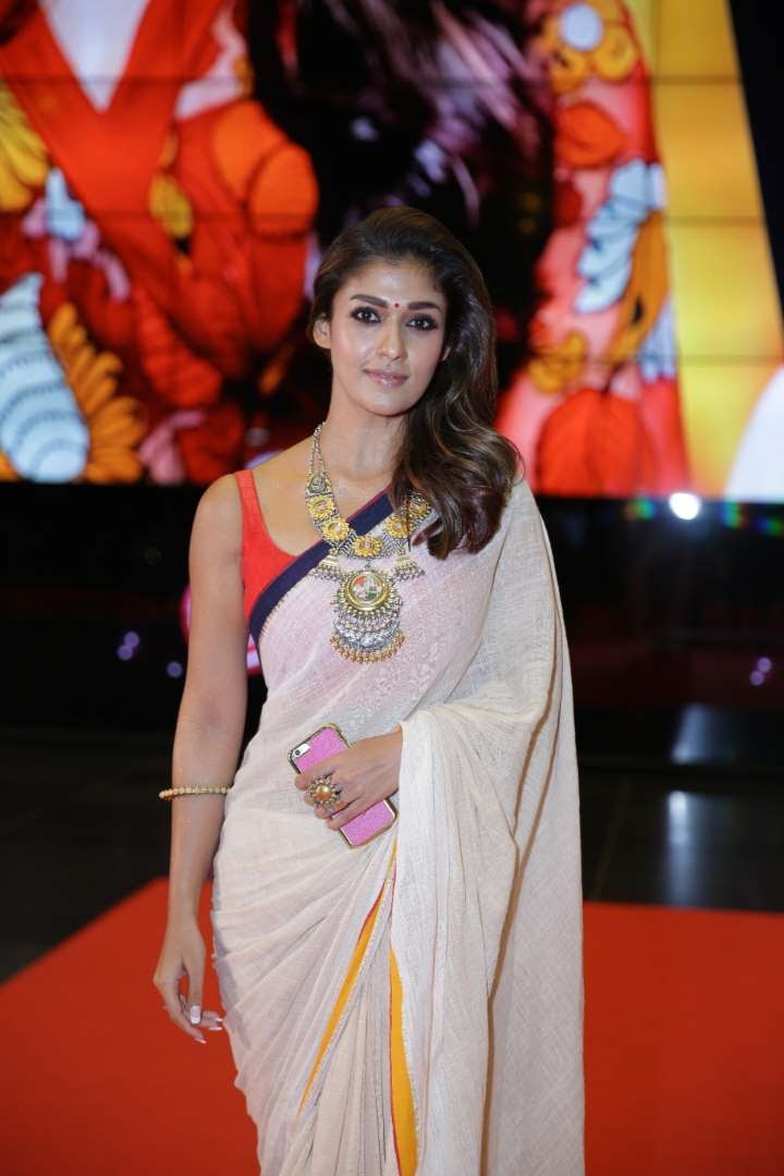 Nayanthara won the Best Actress Tamil  Malayalam awards for her performance in Naanum Rowdy Dhaan and Bhaskar the Rascal respectively