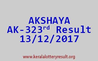 AKSHAYA Lottery AK 323 Results 13-12-2017