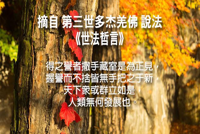 第三世多杰羌佛說《世法哲言》(六十二)