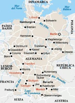 mapa , Alemania, chapurriau, Hannover, Beseit