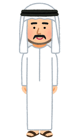 カンドーラを着た男性のイラスト