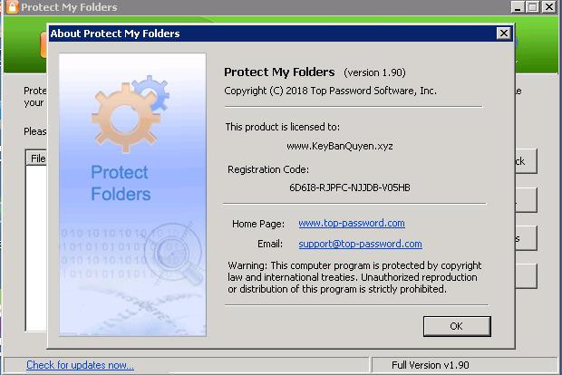 Protect My Folders 1.9 Full Key Download, Phần mềm bảo vệ File và Thư mục