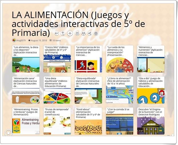 """""""18 Juegos y actividades interactivas para el estudio de LA ALIMENTACIÓN en 5º de Primaria"""""""