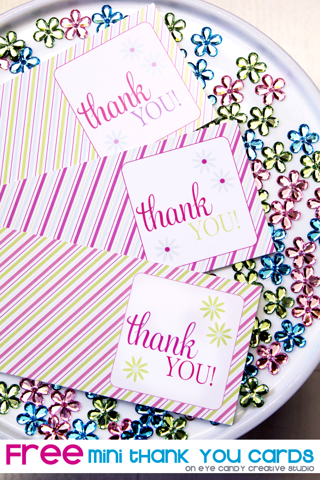 mini thank you cards, free download, mini cards for thank you gifts