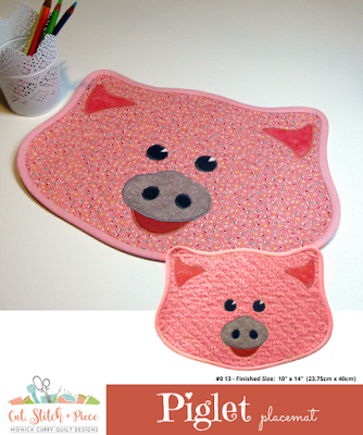 Piglet Placemat by Monica Curry