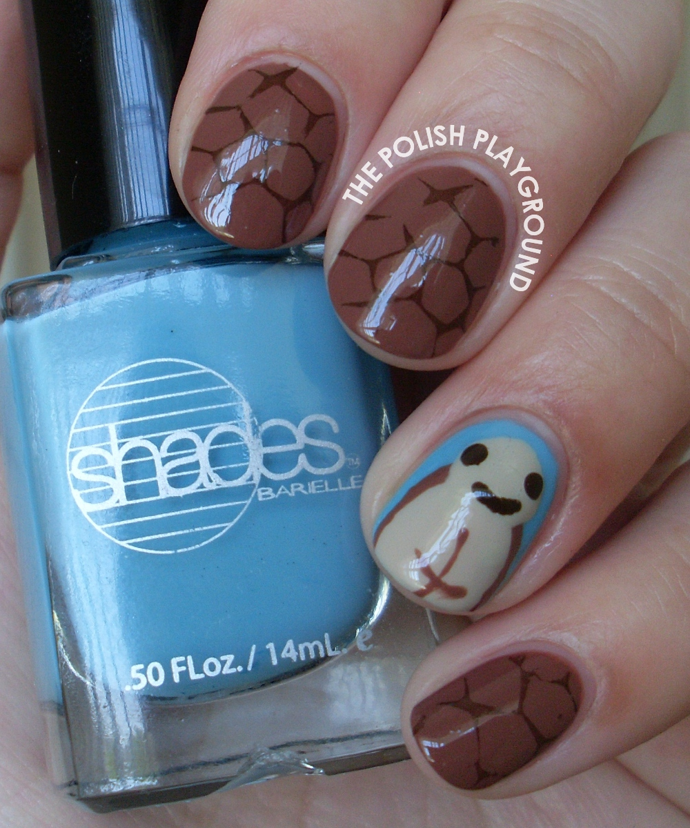 World Turtle Day Stamping Nail Art