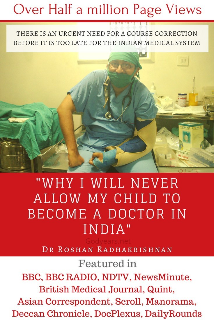 Why are more and more doctors today disillusioned with the medical system in India?