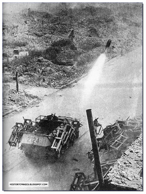 Germans used Wurfrahmen 40 multiple rocket launchers against  Home Army positions September Warsaw Uprising 1944