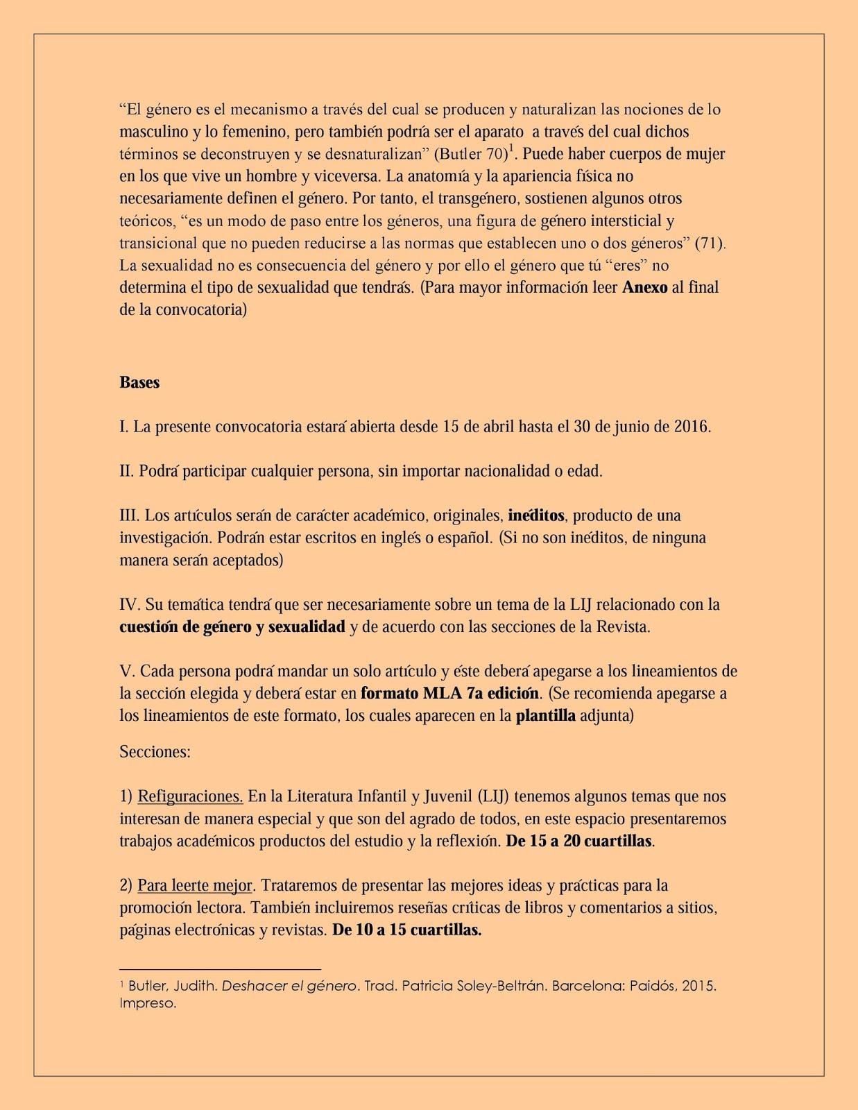 círculo de traductores: Convocatoria: Revista LIJ Ibero