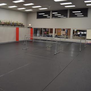 Greatmats Rosco Marley Dance Floor Rosco Portabarres at St Cloud School of Dance
