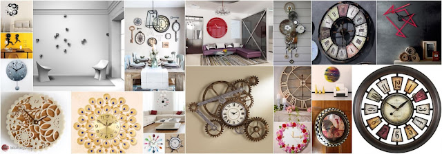 Unique Wall Clocks As Wall-Mounted Artistic Plates