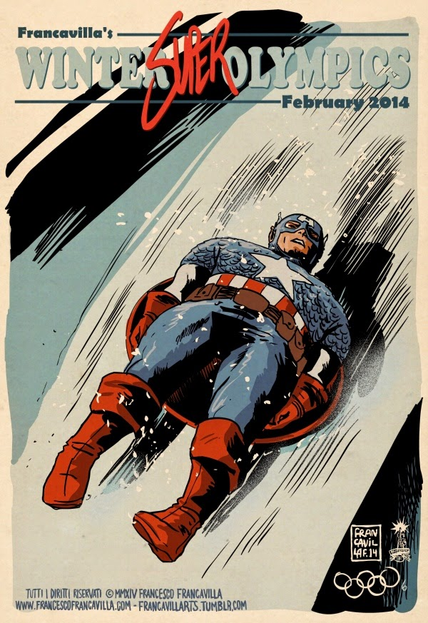03-Captain-America-Luge-Francesco-Francavilla-Winter-Superhero-Olympics-www-designstack-co