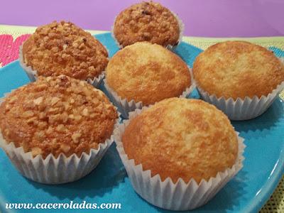 magdalenas o muffins de azúcar