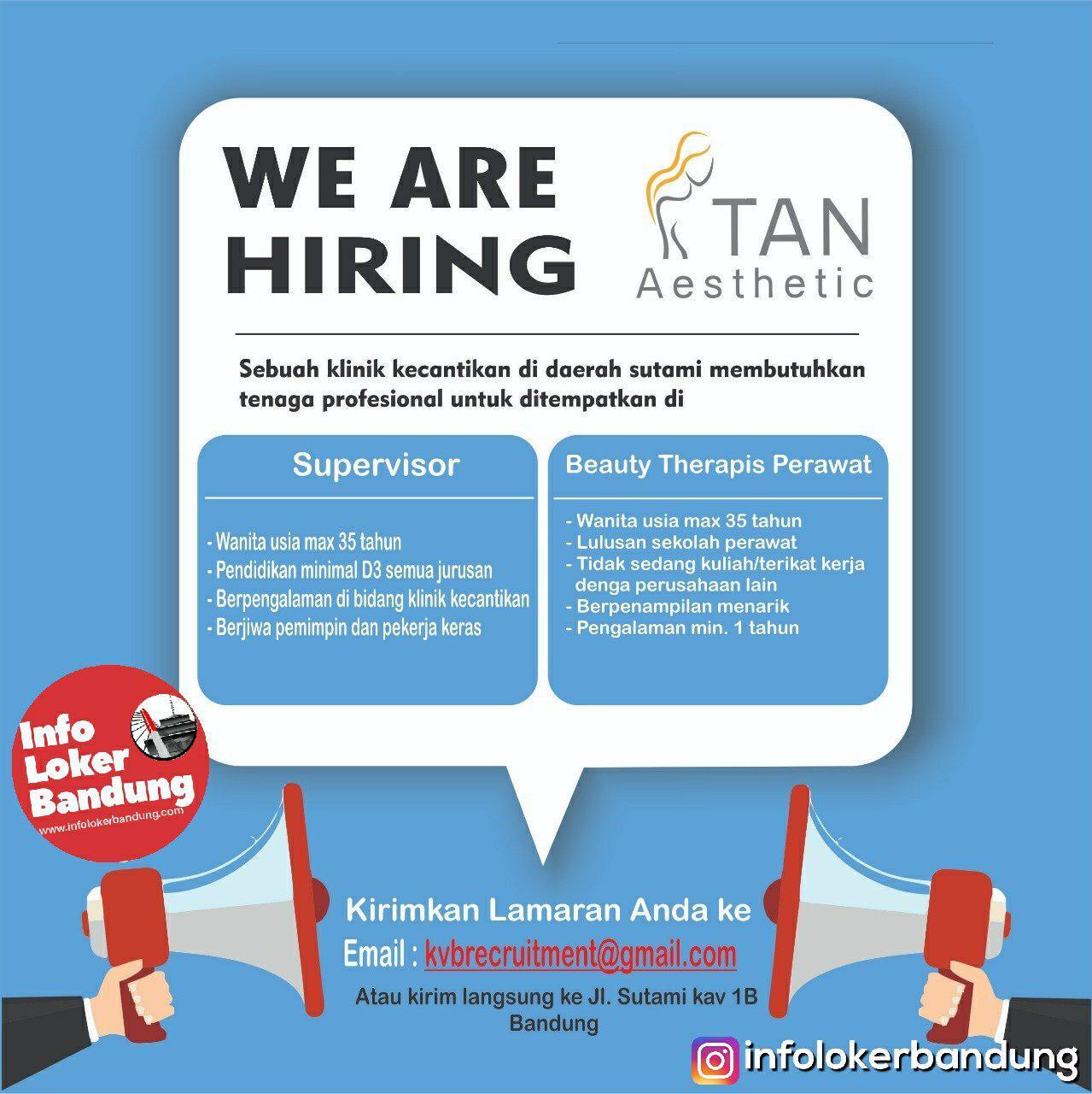 Lowongan Kerja Tan Aesthetic Bandung Januari 2019