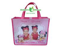 tas ultah minnie mouse, tas souvenir ultah minnie mouse, tas ulang tahun murah, tas ultah custom.