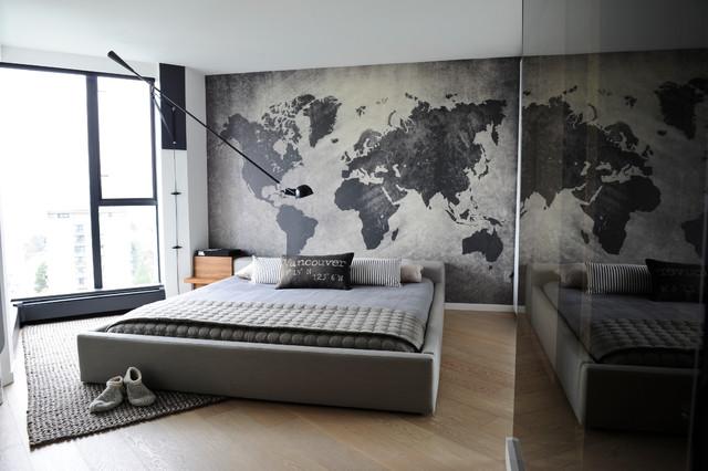 världskarta tapet sovrumstapet fototapet svart vit världskarta