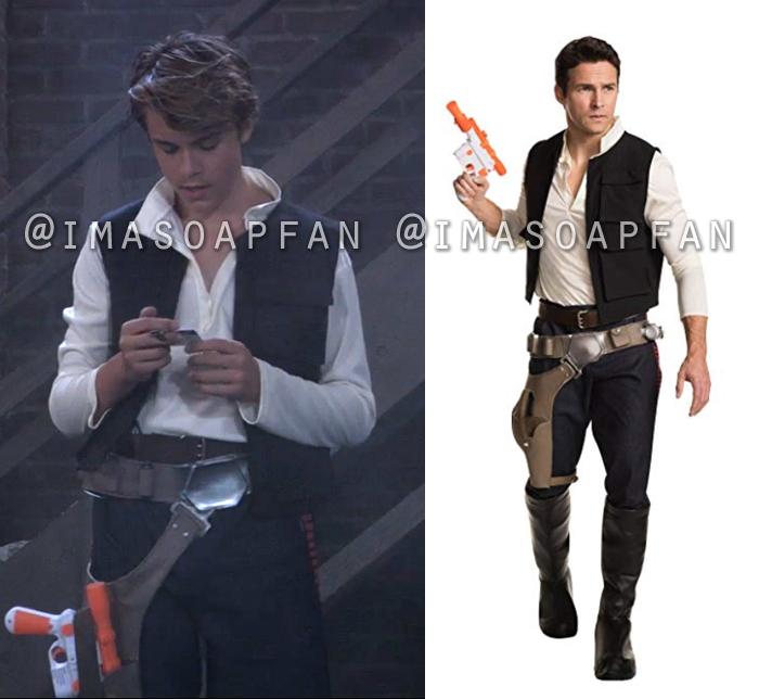 Cameron Webber, William Lipton, Star Wars Han Solo Costume, General Hospital, GH