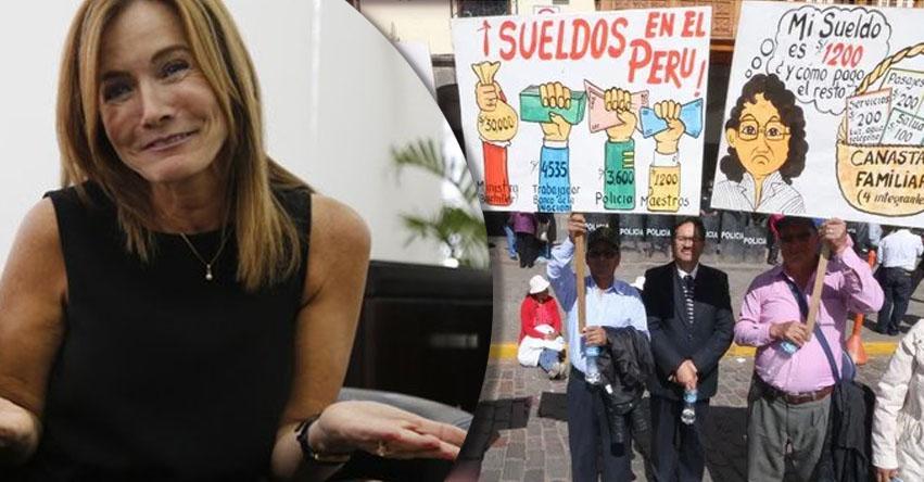 Mientras maestros luchan por un sueldo digno, Ministra de Educación cobrará más de S/. 60 mil por 28 de Julio