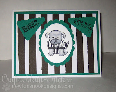 Bulldog Ref Birthday Card by Crafty Math Chick | Touchdown Tails by Newton's Nook Designs