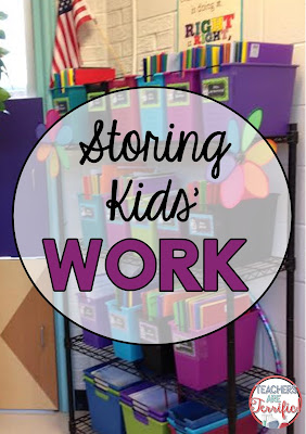 How do you store kids' work folders in our science or STEM class? This blog post has tips about this and more organizational ideas for you!