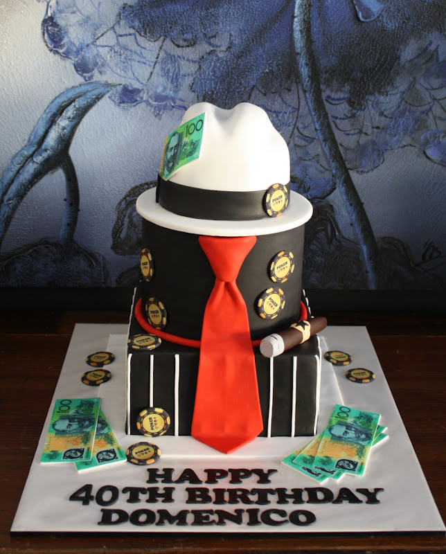 Sandy S Cakes Dom S Gangster 40th Birthday Cake