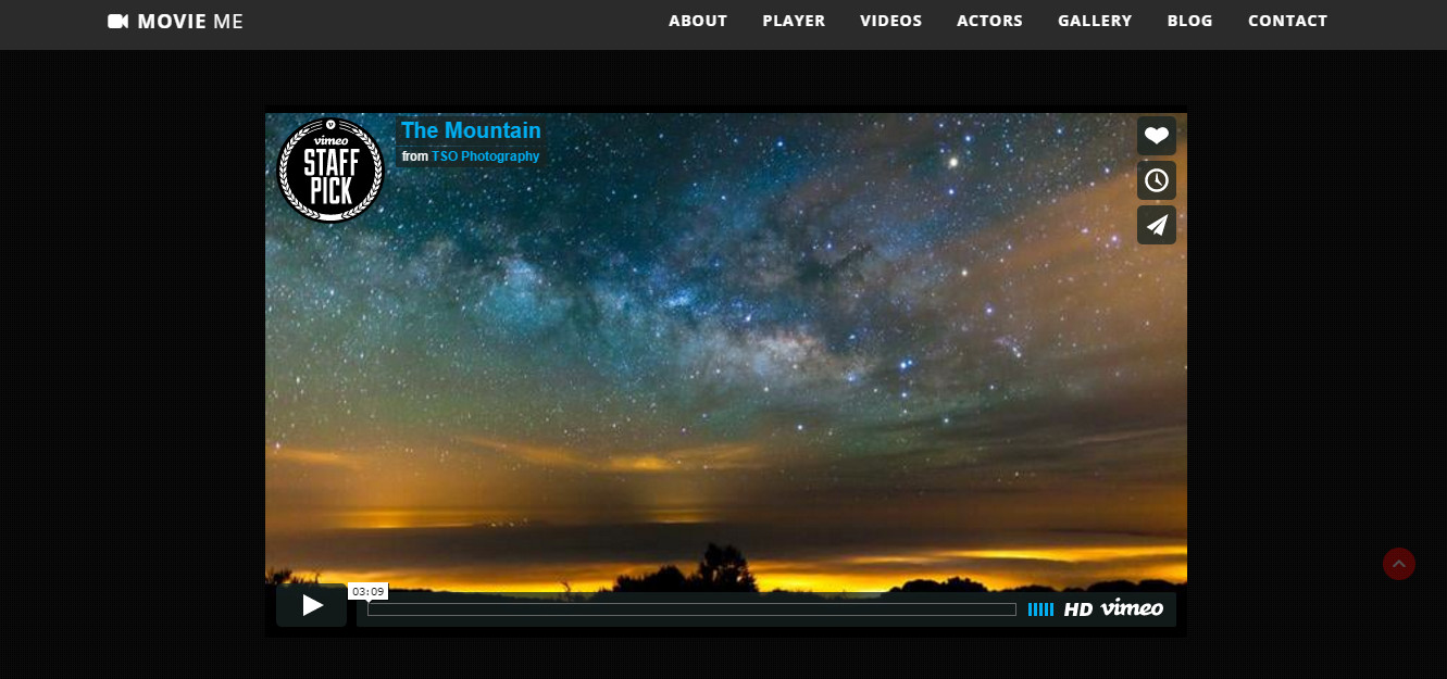 wordpress video Movie theme