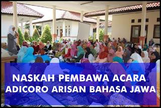 Pembawa Acara MC Adicoro Arisan Bahasa Jawa