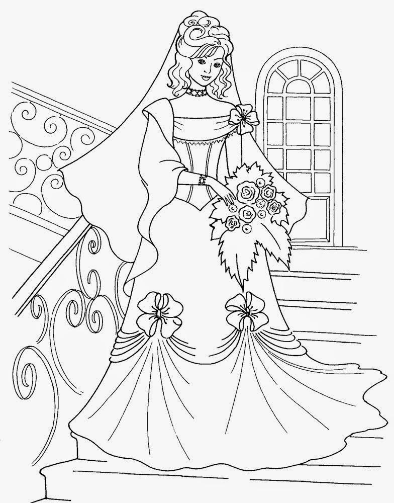 Kids Under 7: Princess Colouring Pages. Part 1