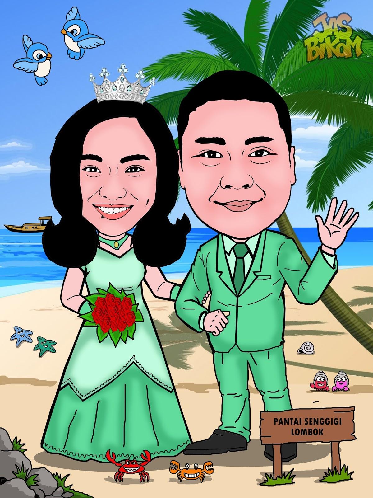 Karikatur Wedding
