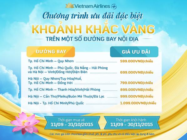 Tìm vé rẻ cùng khoảnh khắc vàng của Vietnam Airline