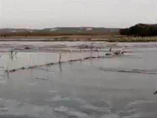 Chuvas fazem açude seco há meses ganhar 14% do volume em cerca de dois dias na Paraíba; assista ao vídeo