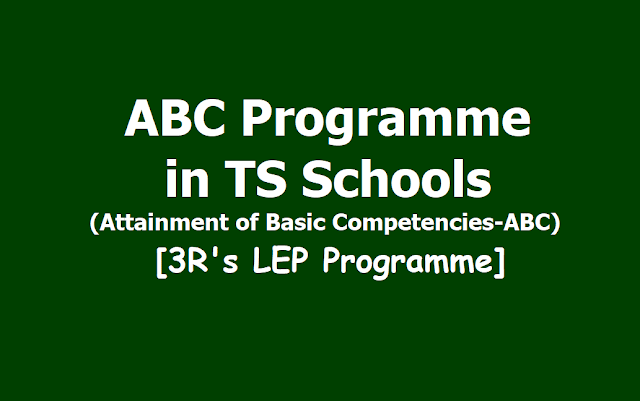 ABC Programme in TS Schools