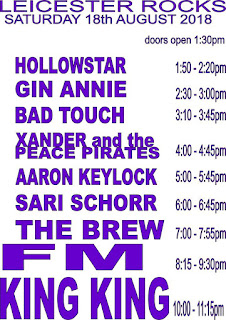 FM at Leicester Rocks - 18 Aug 2018 - stage times