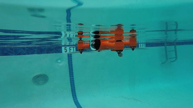 Il primo drone impermeabile e subacqueo della storia