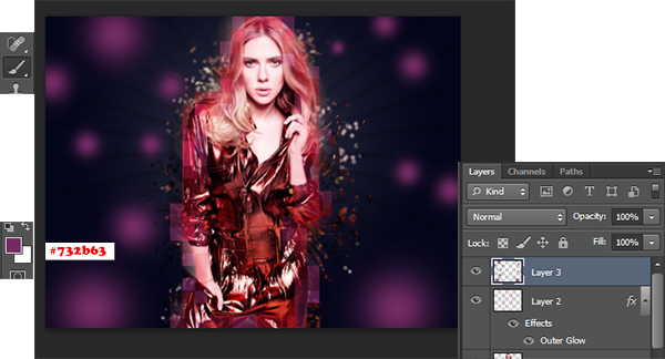 efek abstract, efek foto photoshop