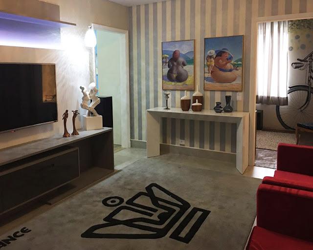 decoração living - mostra conforto paulistano