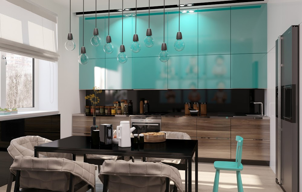 teal-kitchen-cabinets