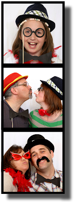 Lot's of fun in a photo booth, especially if you have some props!