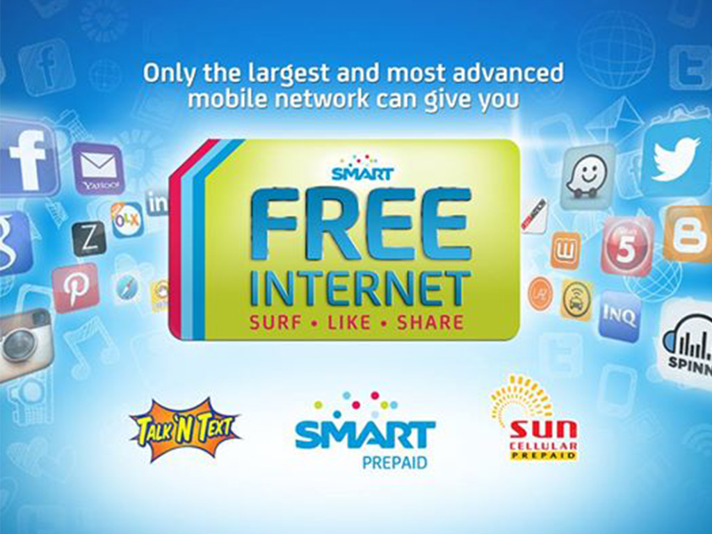 Smart, Talk N' Text and Sun offer Free Mobile Internet