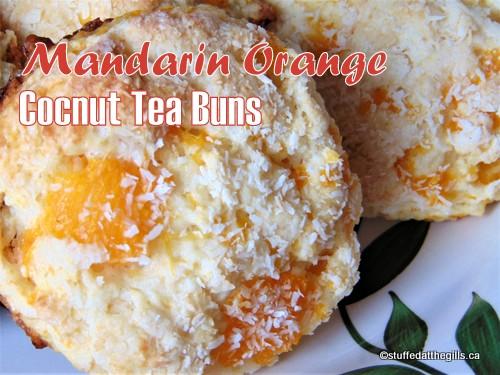 Mandarin Orange Coconut Tea Buns