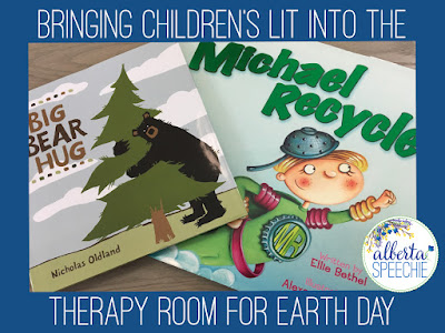 Bringing children's lit into the therapy room for Earth Day