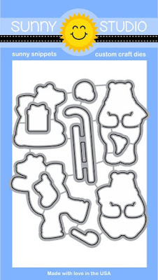 Sunny Studio Stamps: Playful Polar Bears Winter 4x6 Steel Rule Die Set