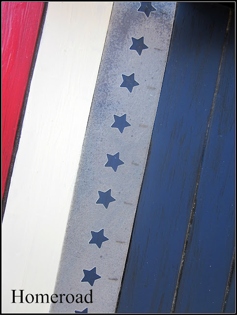 flag tray with DIY star stencil