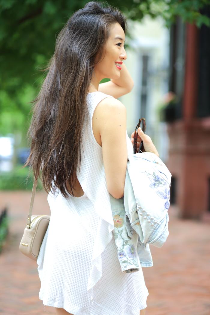 cute little white dress