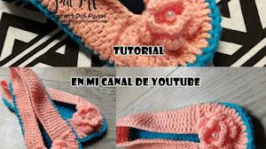 Zapatillas Crochet Para Mujer / Tutorial en Español