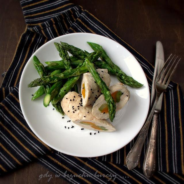 Filet kurczaka z szparagami